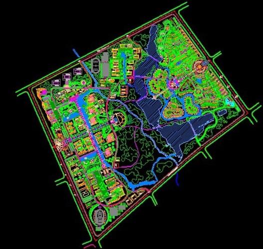 园林景观设计总平面图