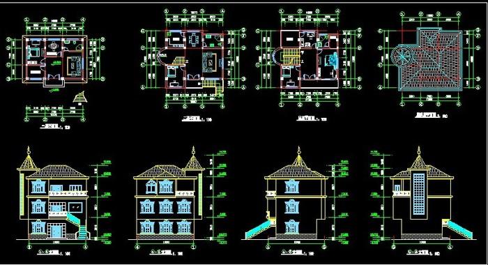 农村别墅设计图(小户型)图片