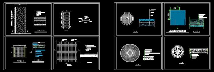 某游园道路广场设计   道路广场施工图,路面分级铺装及广场花纹设计