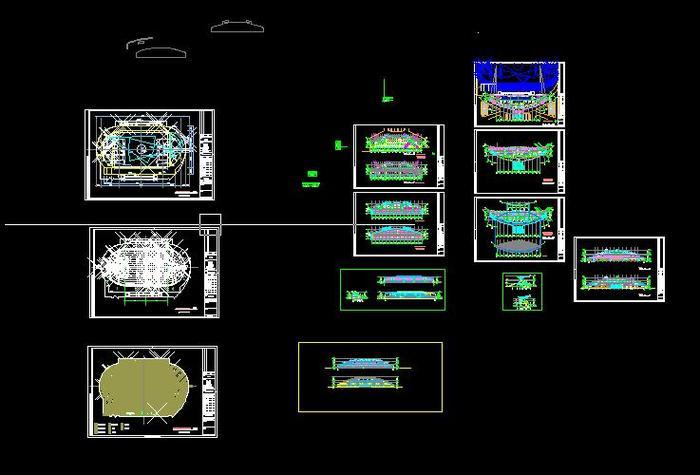 云南省某大型框架结构体育馆全套结构施工图 某中学体育馆的全套施工图片