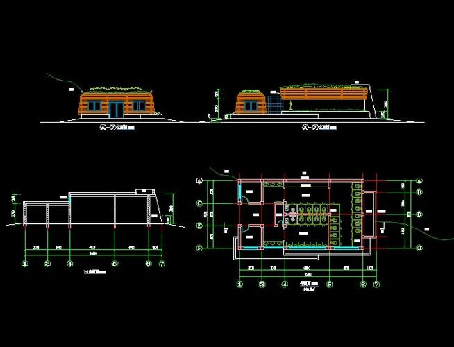 某地2层公共厕所建筑设计施工图(含结构,水电) 无锡某厂内单层砖混
