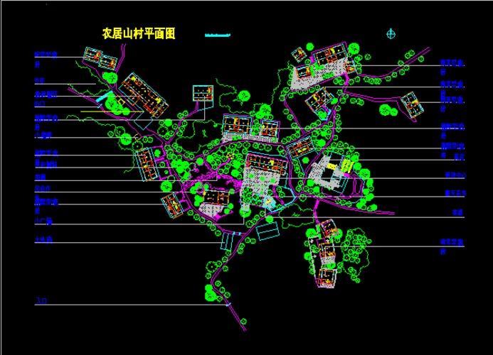 农居山村cad平面图