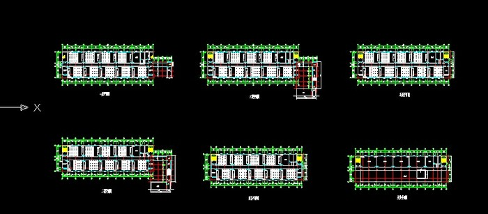 大学教学楼平面图