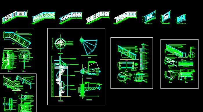 旋转楼梯大样cad节点详图_co土木在线图纸下载