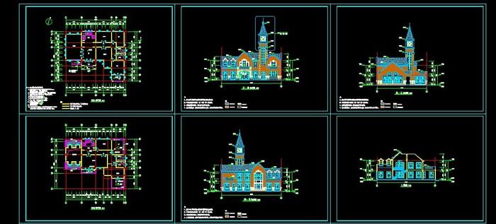 某小区别墅建筑图