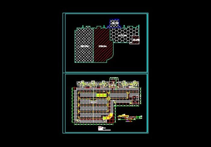 地下车库分区效果图