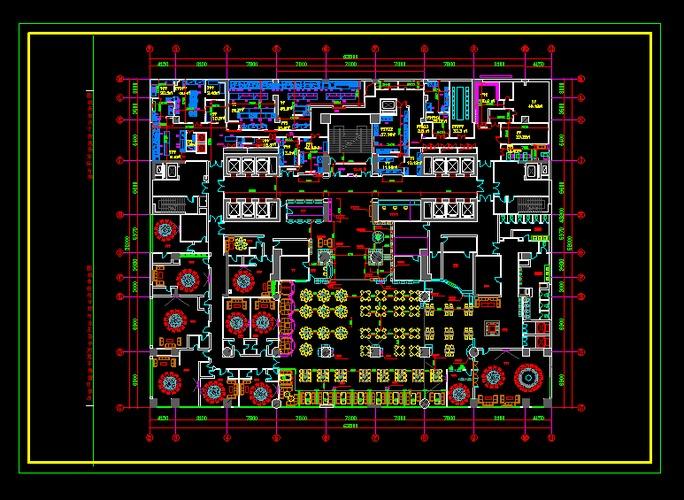 某中央廚房照明,弱電,消防設計圖 最新流行快餐廳廚房設計圖 常用電機