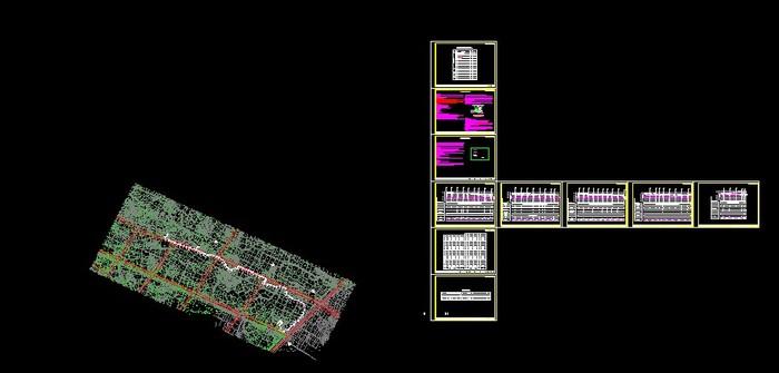 郫县安德镇某市政图纸图纸污水(工程与工程量楼房农村平面设计管网13x15图片