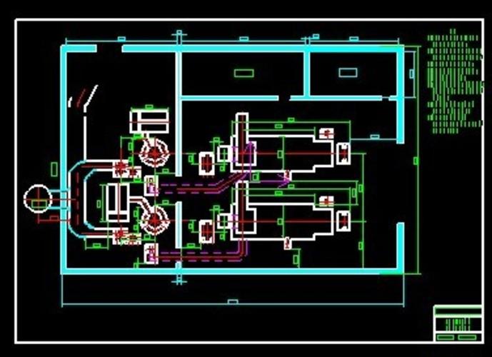 本锅炉房设计特点,主要是占地面积小,实用性强,两套15吨锅炉图片