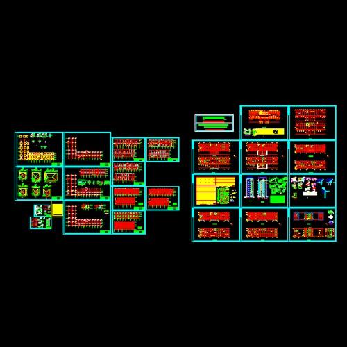 多层框架带电梯结构图,有这方面不足的可以仅供参考
