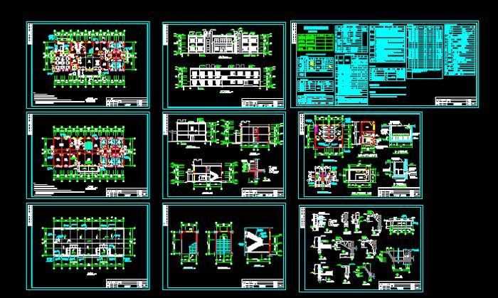 某 二层 办公 综合楼 设计图 原网易高清图片