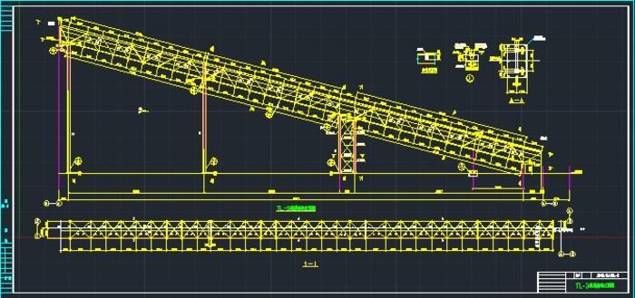 皮帶機通廊結構施工圖