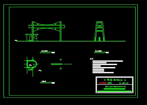某厂区钢结构大门平立面图