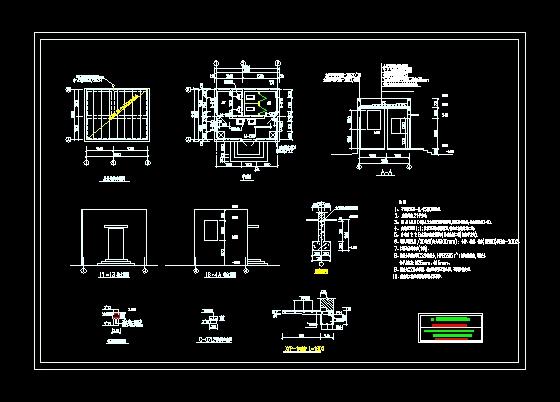 简易的变压器室图纸气浮池cad图纸图片