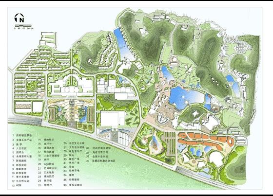图纸 园林设计图 园林景观效果图 园林景观平面效果图 某广场规划总