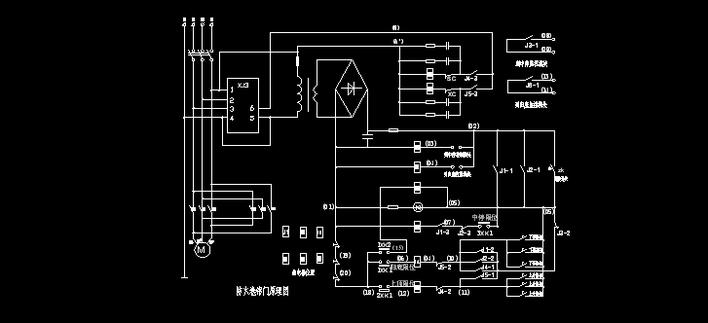 卷帘门继电器接线图