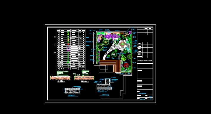 私人别墅庭院绿化布置平立面图 某私人住宅庭院设计彩色平面效果图