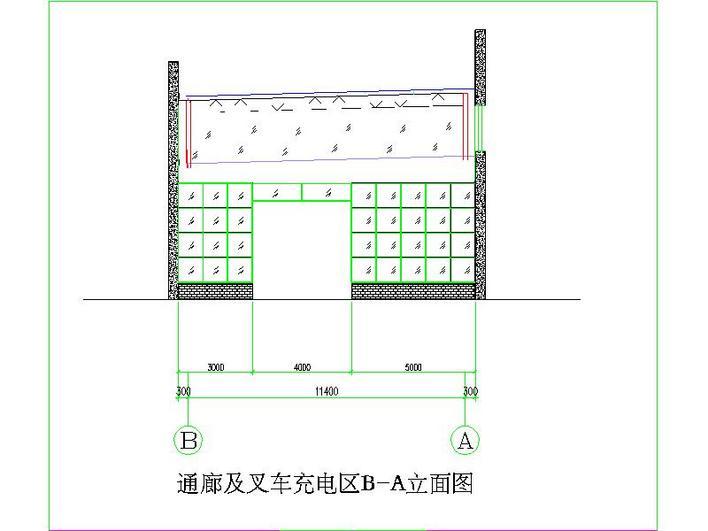 增补叉车通廊及充电区域雨篷_cad图纸下载-土木在线