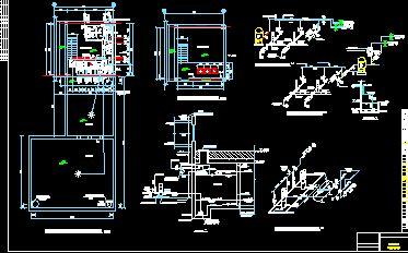 某地供水泵房工艺管道安装设计方案图,图纸内容过于简单,仅有一张