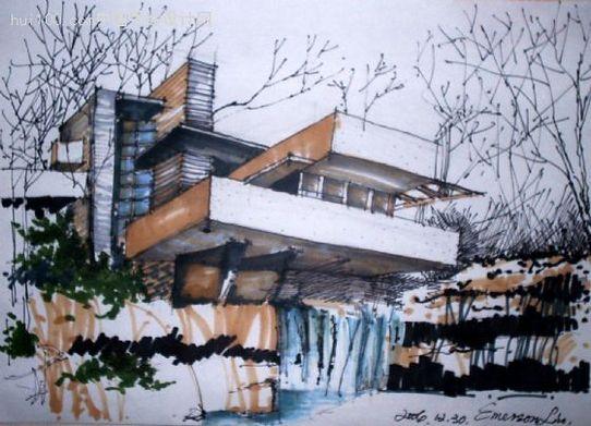 建筑手绘效果图(4)--经典~!