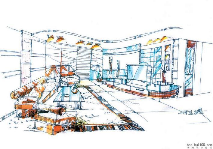 建筑室内手绘效果图(1)--经典~!