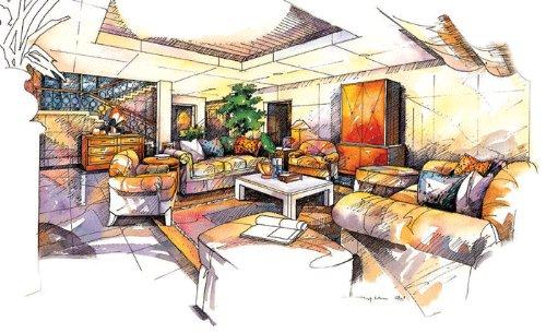 建筑室内手绘效果图(5)--经典~!