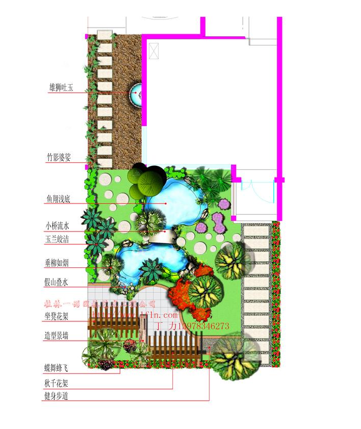 园林设计图  小花园平面图