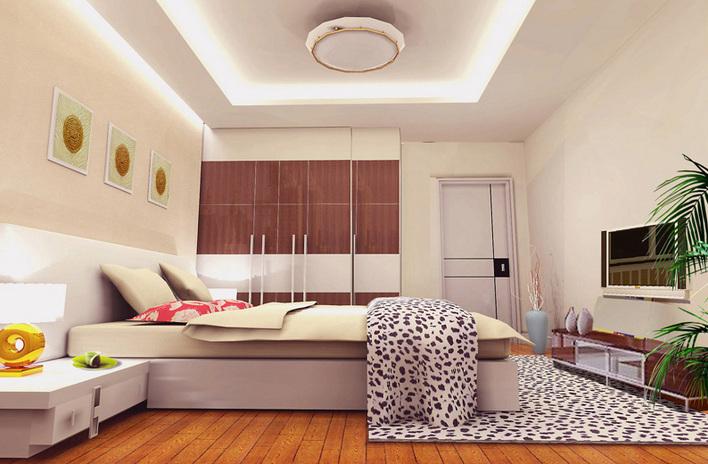 【南京】某现代风格loft样板房四居室装修施工图纸(含效果图) 家装