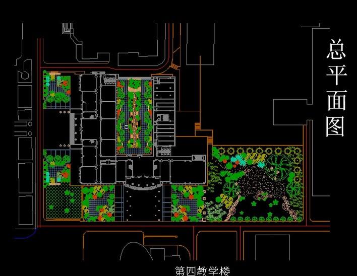 教学楼及周边景观设计图片