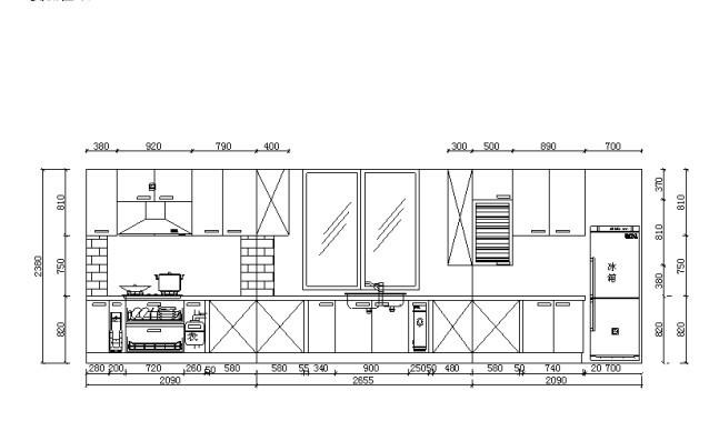 整体橱柜cad图纸 整体橱柜衣柜设计 整体橱柜展厅设计图 整体橱柜设计