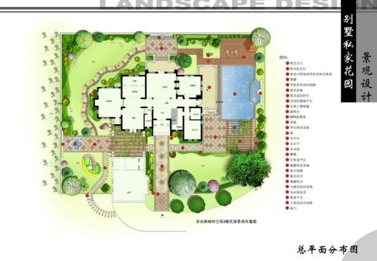 别墅花园设计 园林图纸 园林,园林,园林景观,园林苗木,园林材; 别墅
