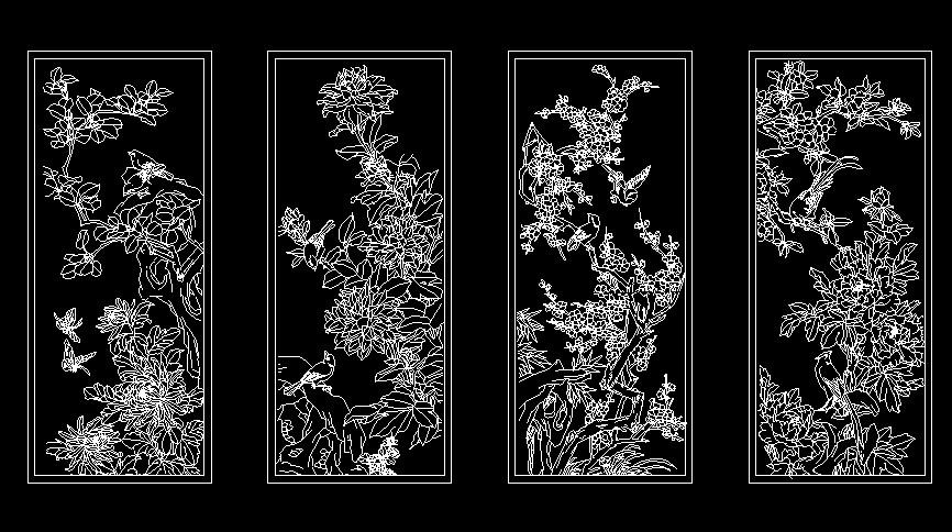 欧式花纹图案cad cad填充图案