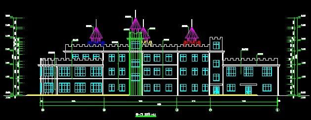 金典幼儿园建筑施工图