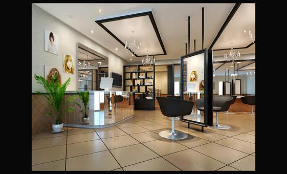 设计理发店装修设计理发店店面设计理发店吧台设计
