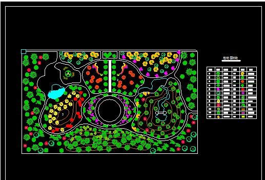 游园植物配置设计