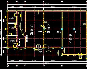 小型冷库设计原理图和平面布置图