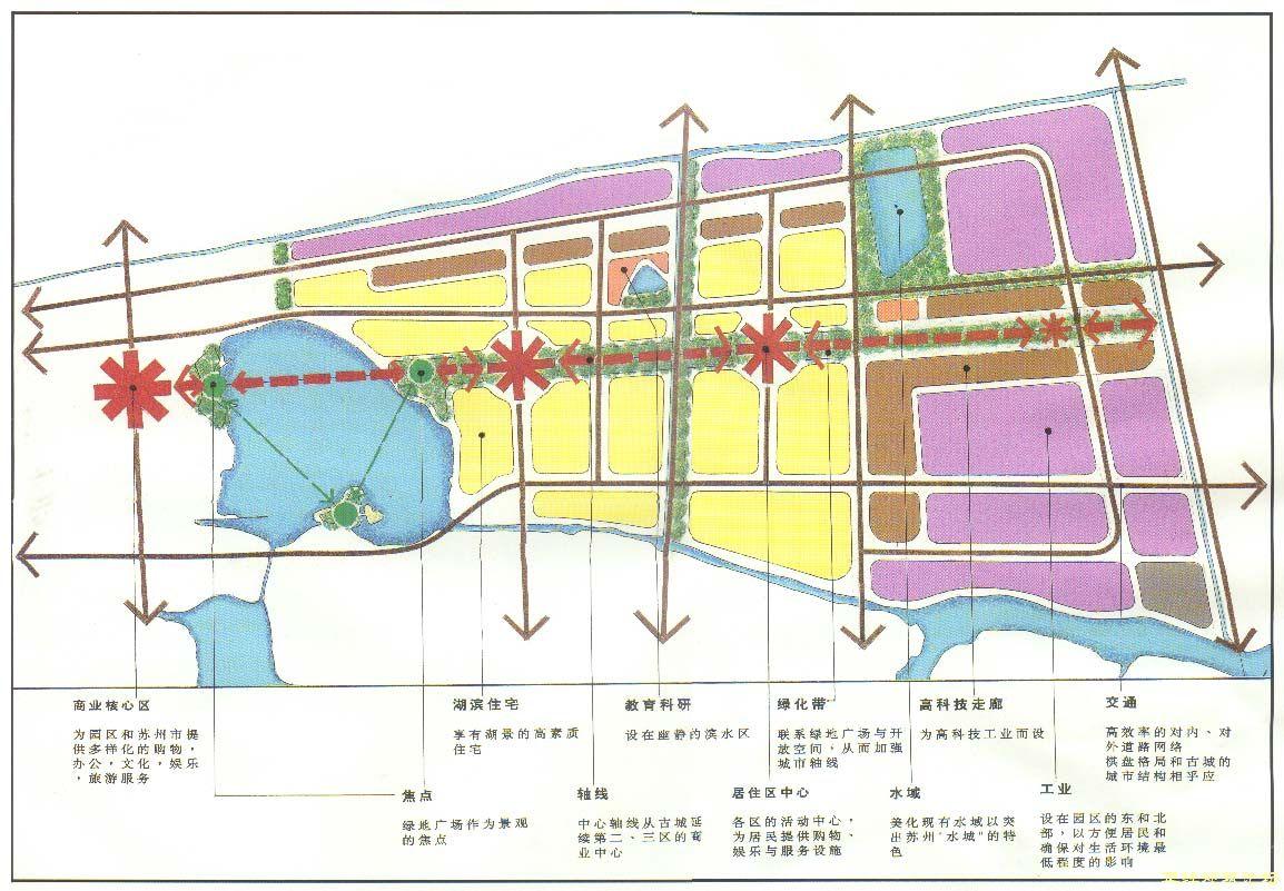 苏州工业园区规划图纸