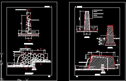 图纸 园林设计图 流水景墙施工图  (0人评价)|                | 179