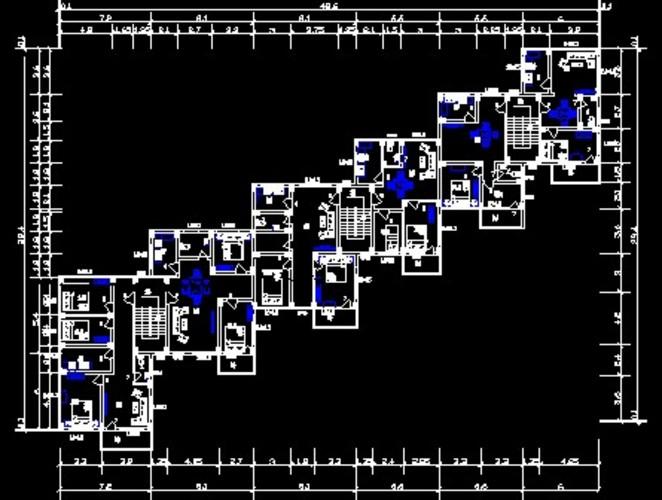 房屋建筑学课设标注层平面图