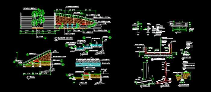 喷泉水池设计CAD详略图
