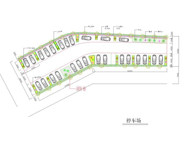 某停车场绿化设计图
