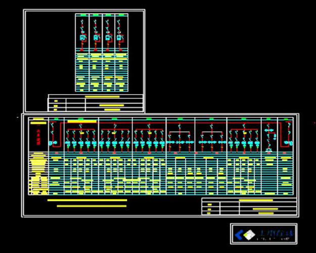 福建某住宅公共用电低压配电系统图 外资工厂低压配电系统图  宿舍变