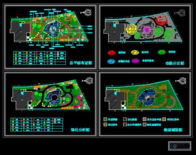 某别墅后花园设计简介:  某别墅后花园设计:南方别墅庭院设计,平面图