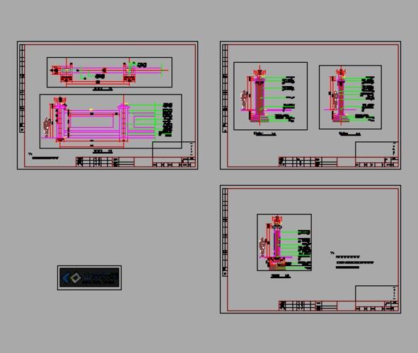 建筑工地临时性围墙图纸