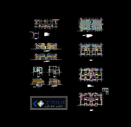 豪华别墅平面图图纸精华免费下载_CO图纸在墙角锁v图纸土木图片
