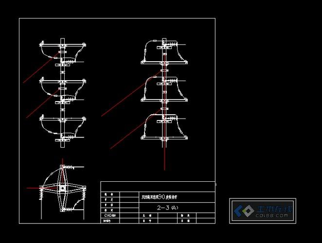 10kv双回路及单图纸v图纸回路杆顶组装p10线路