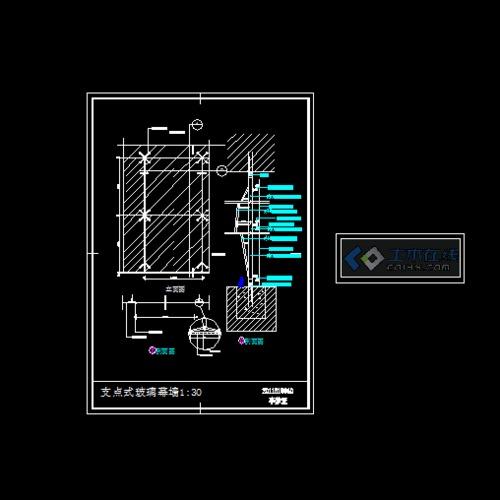 某观光电梯点式玻璃幕墙装修施工图 支点式 玻璃幕墙 【广东】二十八