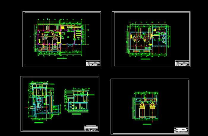 某电站厂房设计图