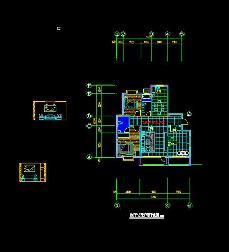 130平米装修平面图 130平米房屋设计平面图 130平米复式装修图 130