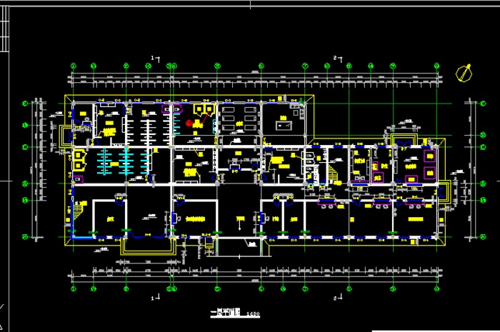 煤矿联合办公楼平面图